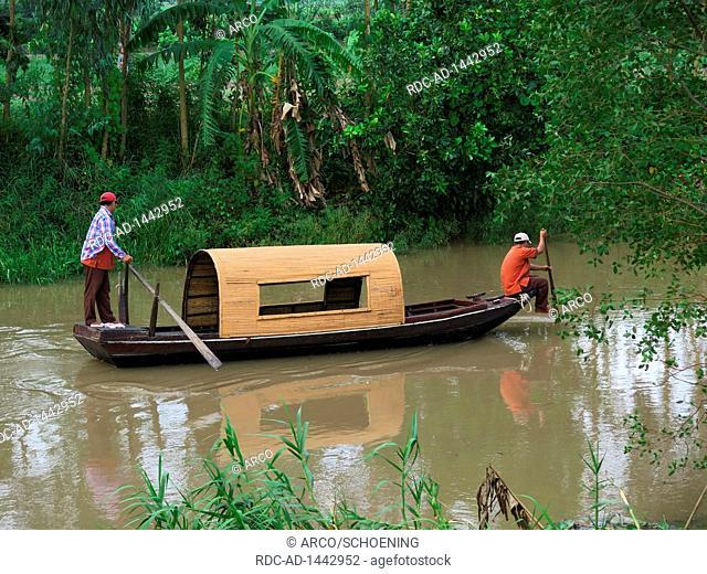 Sampan, Mekongdelta, Vietnam