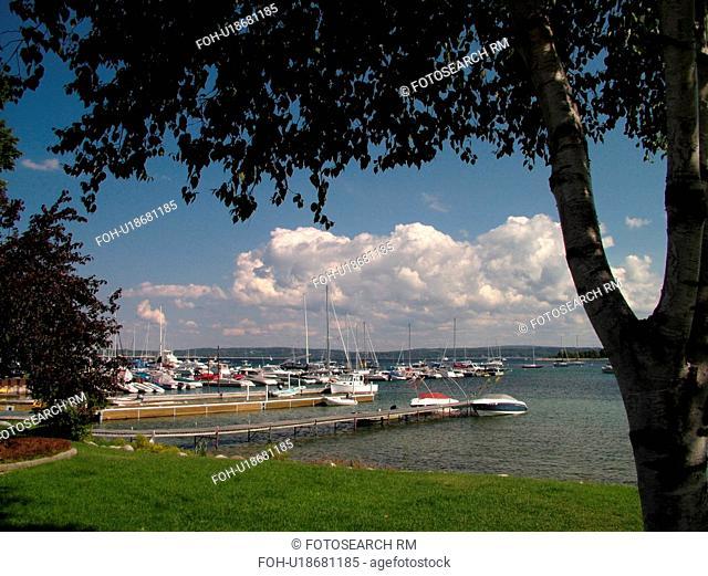 Harbor Springs, MI, Michigan, Lake Michigan, City Park, lakefront, marina