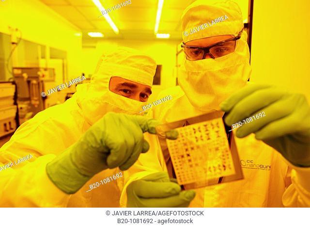 Photomask, Photolithography Room, clean room, photolithography, CIC nanoGUNE Nanoscience Cooperative Research Center, Donostia, Gipuzkoa, Euskadi, Spain