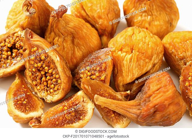 Close up of dried figs