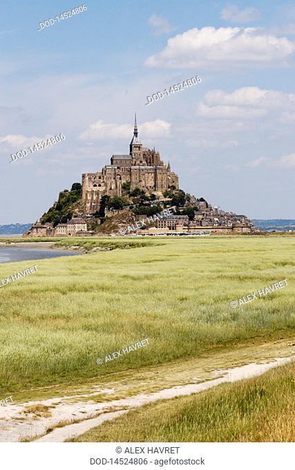 France, Normandie, Mont Saint Michel exterior