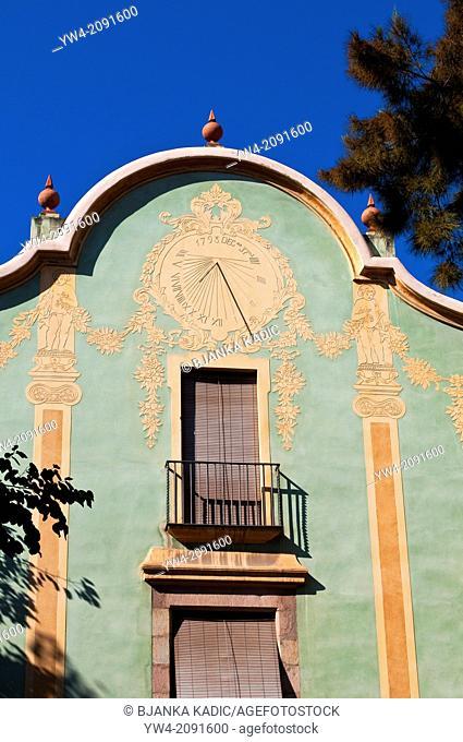 !8th century house with sun-diall, Barcelona, Catalonia, Spain