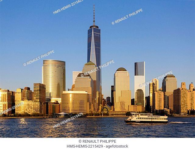 United States, New York, cruise around Manhattan Island, the One World Trade Center