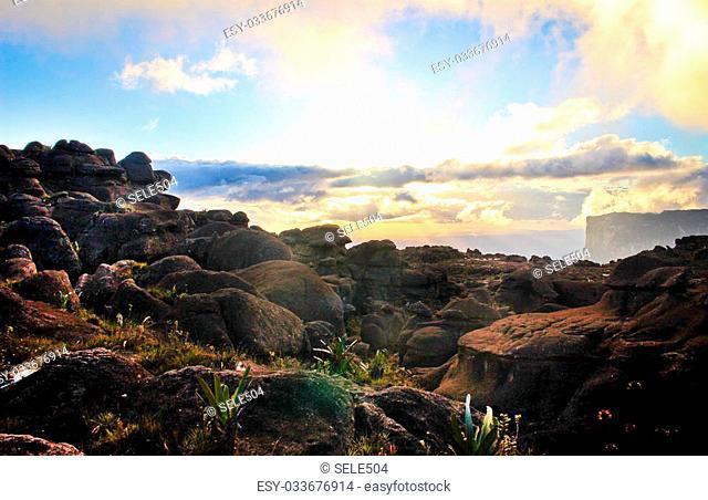 Sunset view Over the Roraima