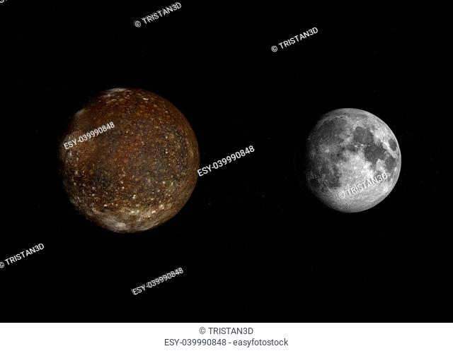 Earth compared to moon Stock Photos and Images | age fotostock