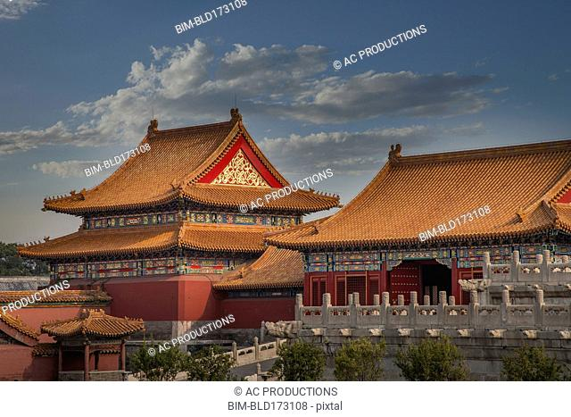 Forbidden City temple buildings, Beijing, China
