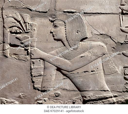 Egypt - Ancient Thebes (UNESCO World Heritage List, 1979) - Luxor - Karnak - The Temple of Amon. Great Hypostyle Hall (New Kingdom)
