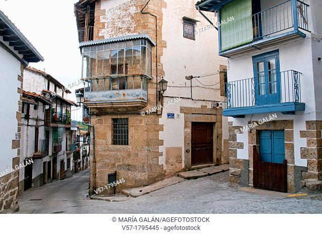 Street. Candelario, Salamanca province, Castilla Leon, Spain