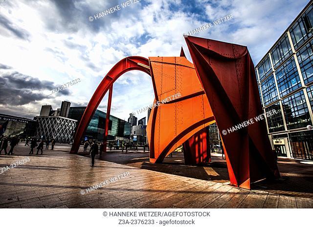 Sculpture at Paris-La Défense, France. at Paris-La Défense, France