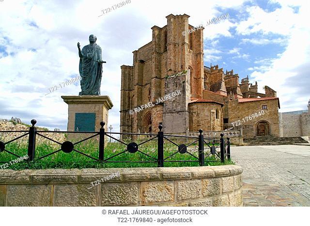 Castro Urdiales Cantabria Spain  Tribute to the Roman Emperor Vespasian Caesar Augustus in the village of Castro Urdiales