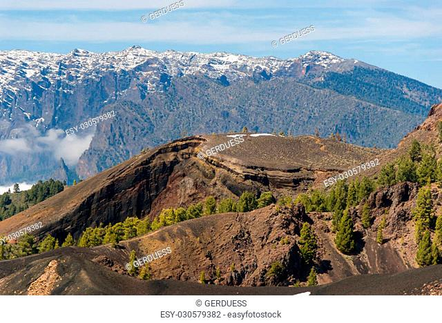 Volcanoes route in La Palma canary islands, Spain