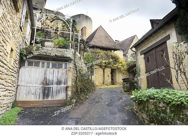 Towering Chateau, Castelnaud La Chapelle, Dordogne River Valley, Perigord France