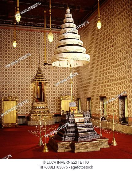 Interior of Dusit Throne Hall. Royal Palace, Bangkok,Thailand