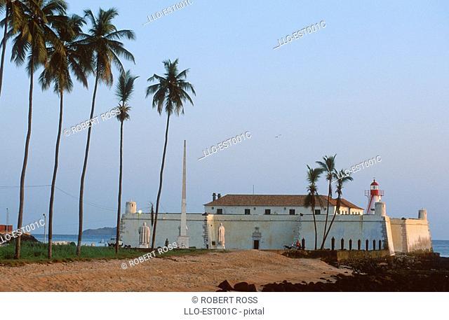 A View of Fort Sao Sebastiao  Sao Tome, Sao Tome & Principe, West Africa