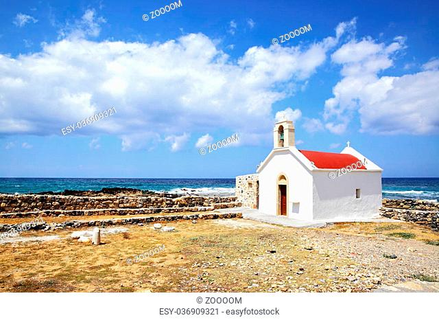 Traditional greek church in Hersonissos, Crete island