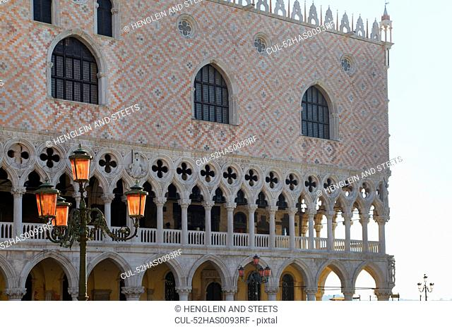 Ornate building and streetlight