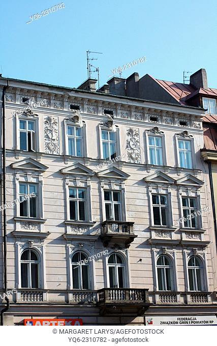 Old, historical architecture in the Old Town in Krakow, Lesser Poland, Poland, Europe