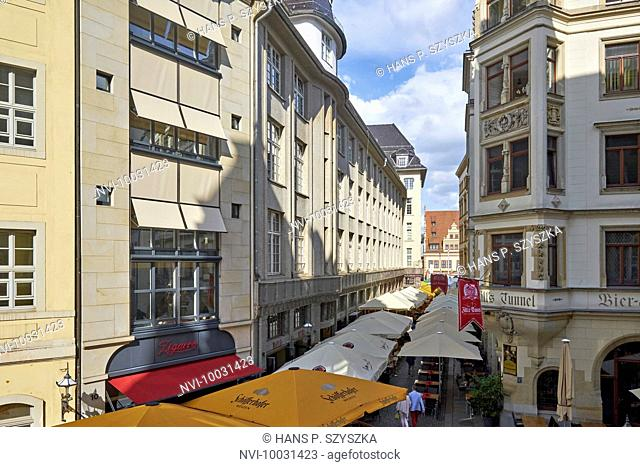 Barfußgäßchen in Leipzig, Saxony, Germany
