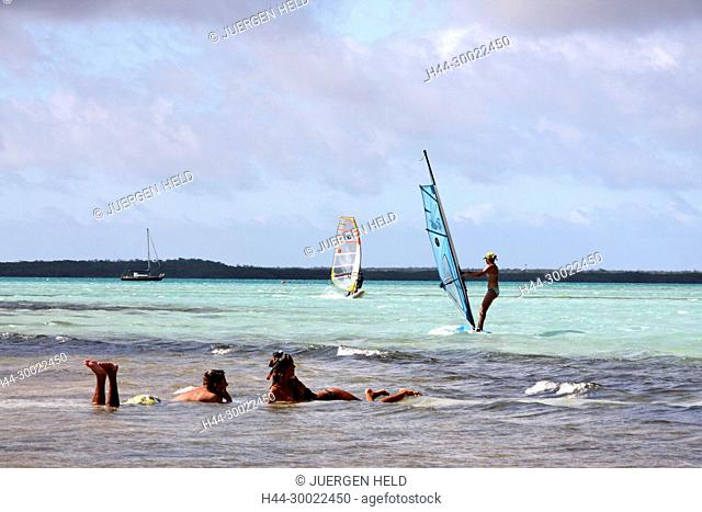 West Indies, Bonaire, Lac Bay Surfer