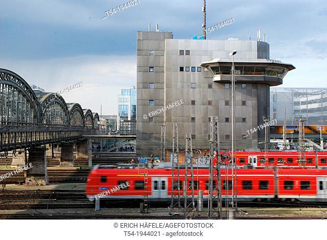 Railcar of the Deutsche Bahn AG in Munich Central