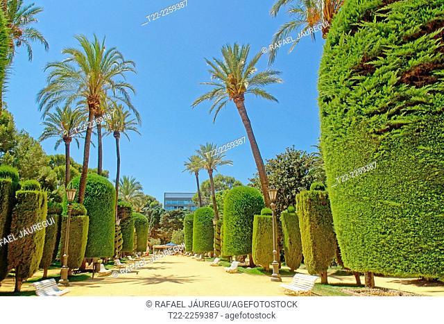 Cadiz (Spain). Genovés Park's historic old town of Cadiz,