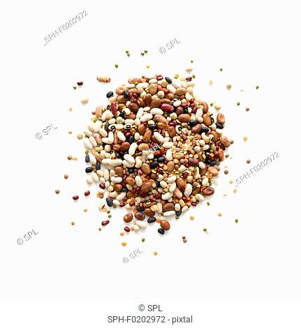 Pulses against a white background