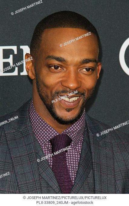 """Anthony Mackie at The World Premiere of Marvel Studios' """"""""Avengers: Endgame"""""""" held at the Los Angeles Convention Center, Los Angeles, CA, April 22, 2019"""