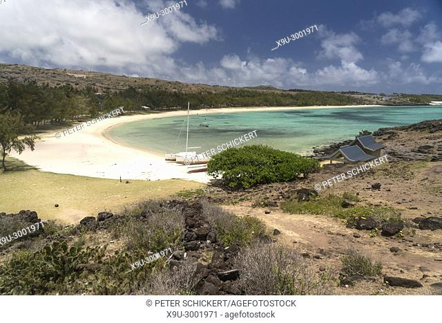 Saint Francois beach and bay, Rodrigues island, Mauritius, Africa