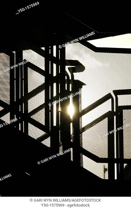 abstract silhouette model metal steel steps outdoors