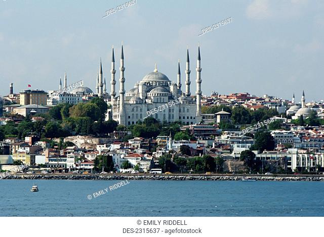 Turkey, View Of Blue Mosque; Istanbul