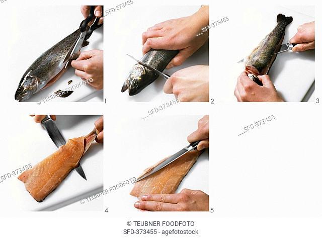 Preparing a trout