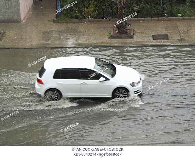 flooded street, Lotissement 5, Essaouira, Morocco