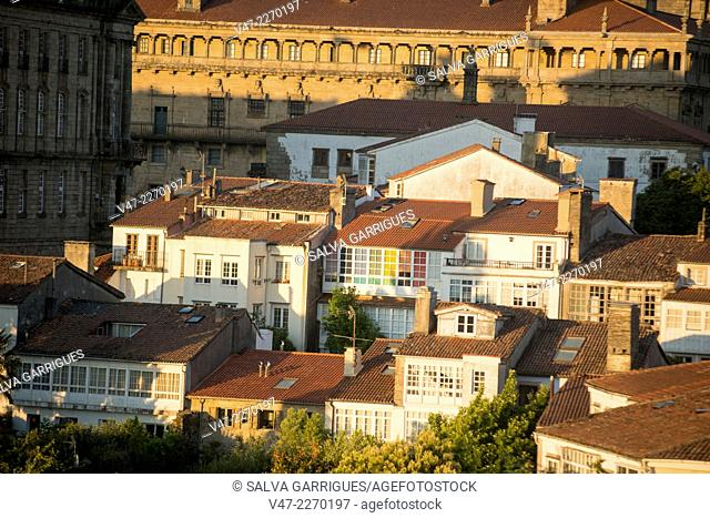 Panoramic roof of Santiago de Compostela, A Coruña, Galicia, Spain, Europe