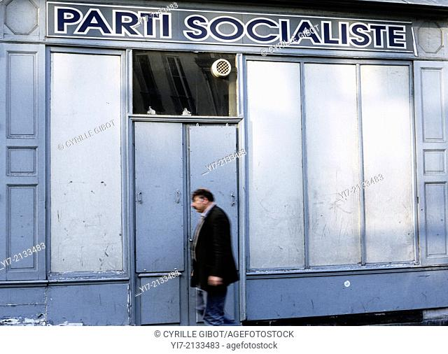 Local office the French Socialist Party (Parti Socialiste), Paris, France