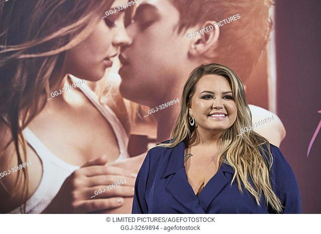 American author Anna Todd attends 'After' Photocall at VP Plaza Espana Hotel on March 26, 2019 in Madrid, Spain