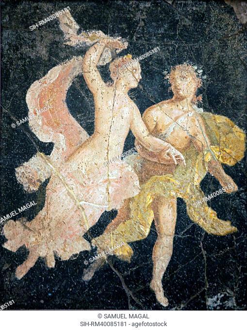 Italy, Naples, Naples Museum, Stabiae, Villa of Arianna, Atrium, Couple in Flight