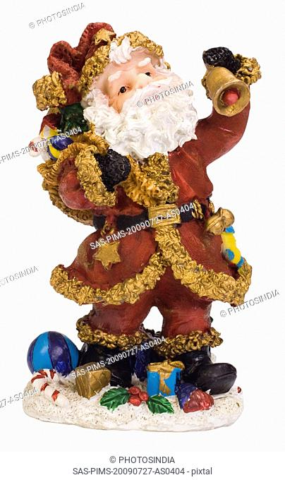 Close-up of a figurine of Santa Claus
