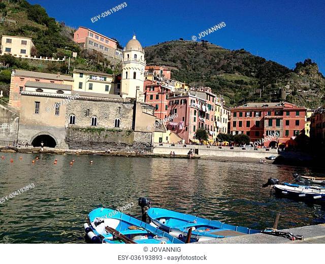 Beautiful scenario of Cinque Terre, Liguria - Italy