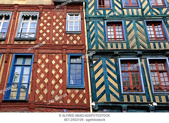 Windows, Rennes, Brittany, France