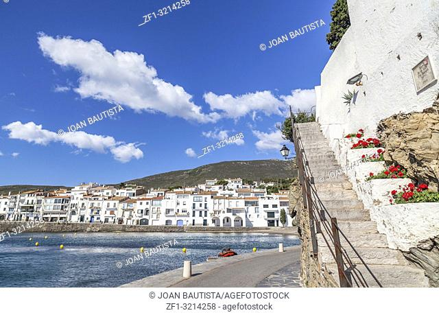 Cadaques,Catalonia,Spain. View of village