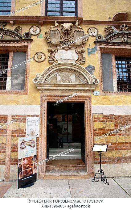 Palazzo del Capitano exterior Piazza dei Signori square central old town Verona city the Veneto region northern Italy Europe