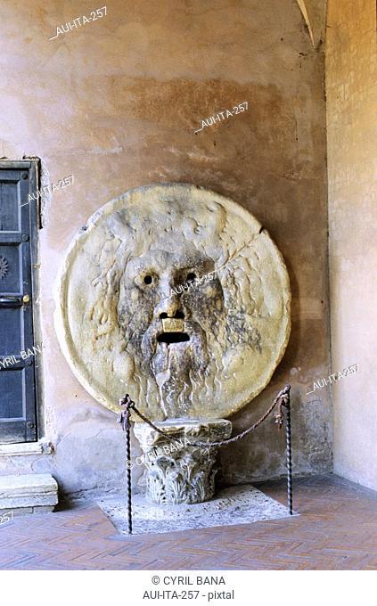 Italy - Rome - Santa Maria in Cosmedin - Bocca della Verità