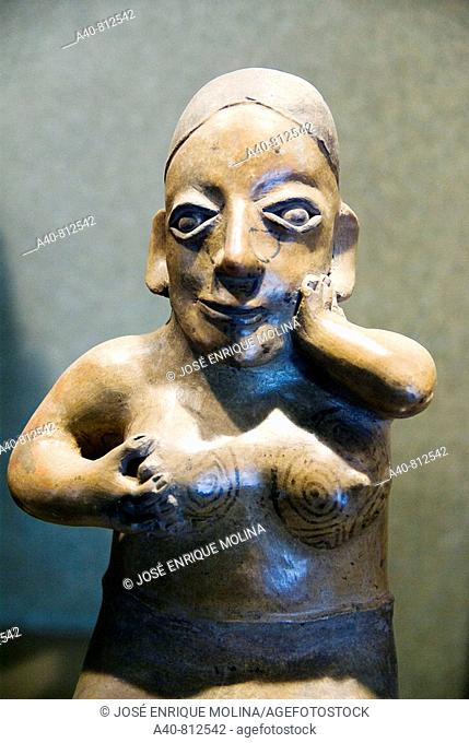 Mexico.Mexico city.National Museum of Antropology.Jalisco culture.Ceramic Female figure