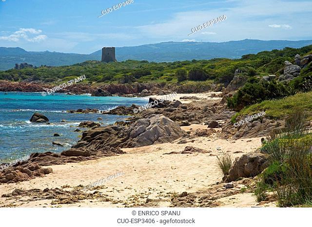 Vignola a mare, Tower, Aglientu, Sardinia, Italy, Europe