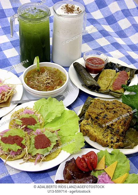 Antojitos. Mexican cuisine. Campeche. Mexico