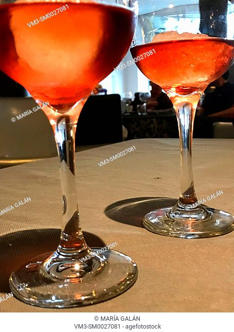 Two glasses of liqueur
