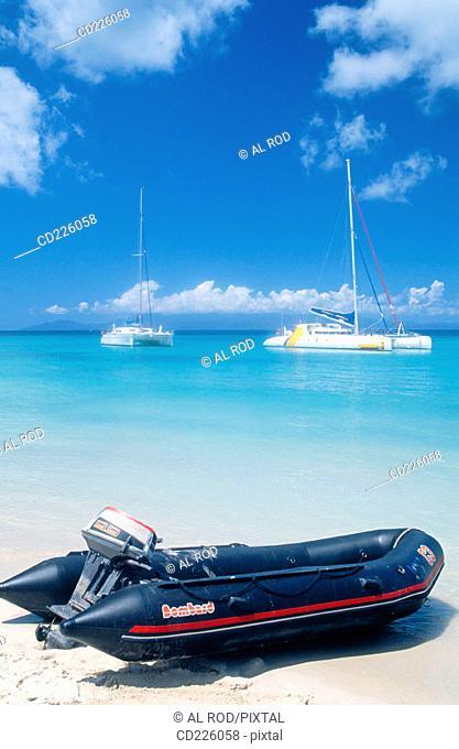 Beach. Marie Galante Island. Guadalupe. West Indies. Caribbean