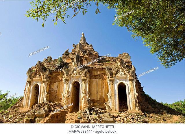 Myanmar, Inle lake, Inlay Shwe Inn Tain pagoda