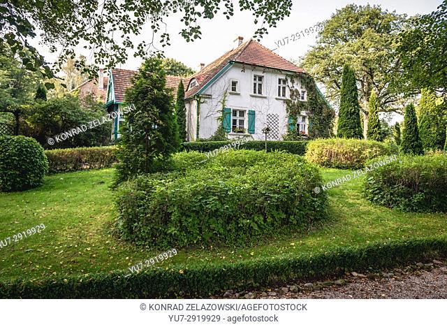 Manor house of Wybicki Family in Sikorzyno Sikorzyno village, Kashubia region of Pomeranian Voivodeship in Poland