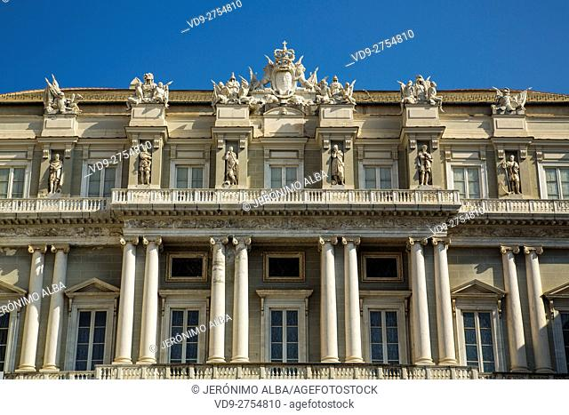 Palazzo Ducale, Piazza Matteotti, historic center. Old Twon. Genoa. Mediterranean Sea. Liguria, Italy Europe